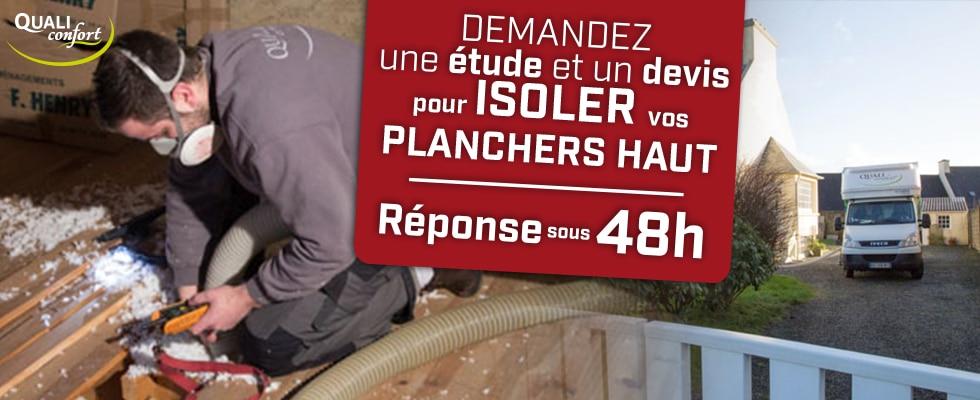 Isolation des planchers haut par Qualiconfort, technique insufflation- Finistère, Cote d'amor, Ile et Vilaine, Morbihan