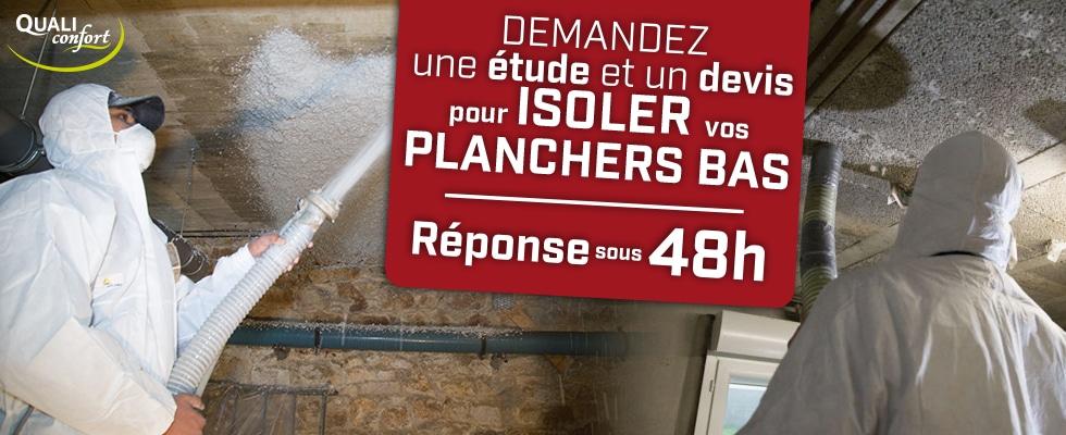 Isolation des planchers bas par Qualiconfort, technique flocage- Finistère, Cote d'amor, Ile et Vilaine, Morbihan