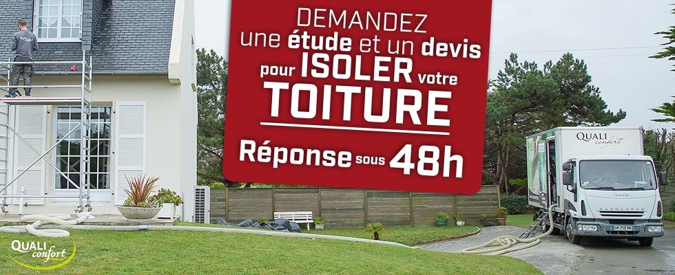 Isolation des rampants par Qualiconfort, technique Soufflage - Finistère, Cote d'amor, Ile et Vilaine, Morbihan