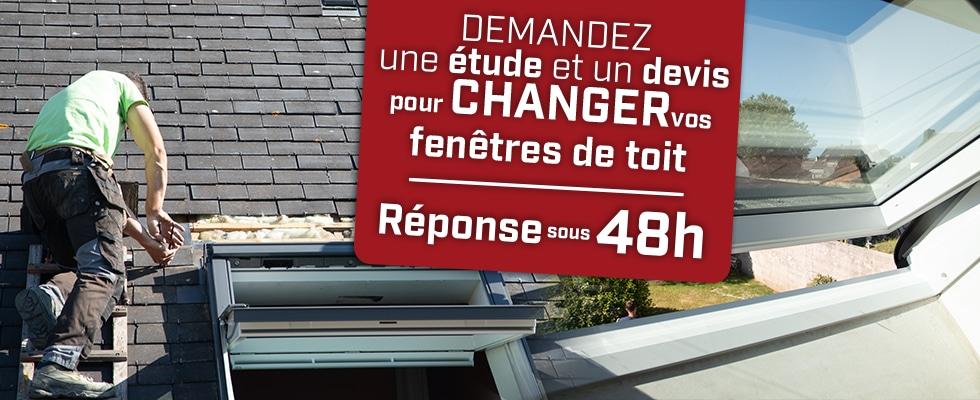 Changement de vos fenêtres de toit par Qualiconfort isolation - Finistère, Cote d'amor, Ile et Vilaine, Morbihan